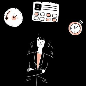 Female manager illustration