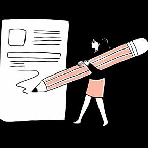Planning woman illustration