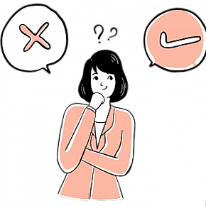 Thinking woman illustration