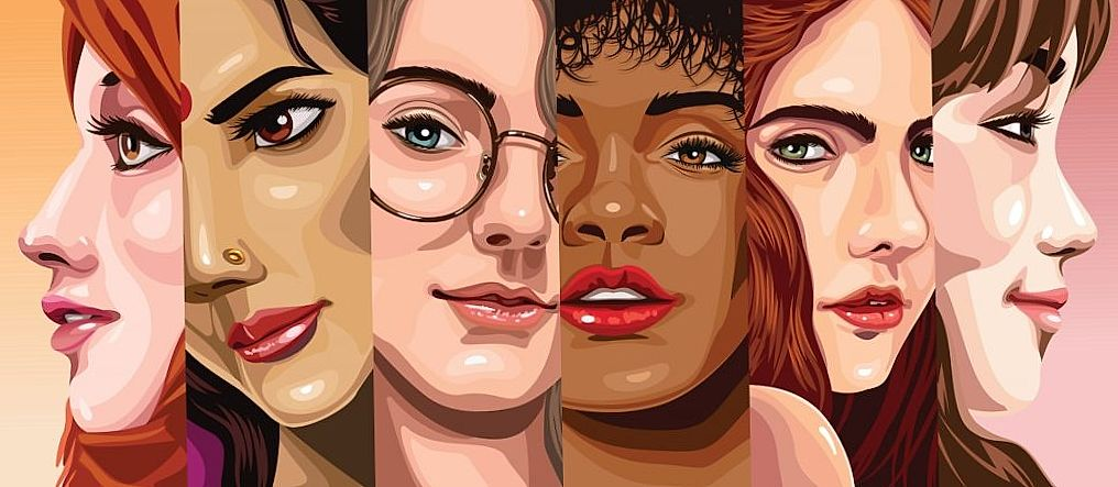 illustrations of womens faces